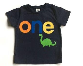 Dinosaur Birthday// One//First Birthday//Boy//Shirt//Birthday Shirt//Ready To Ship