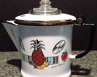 Georges Briard Signature Enamel 'Ambrosia' Coffee Pot