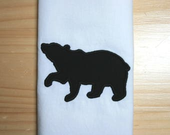 bear silhouette 3 applique