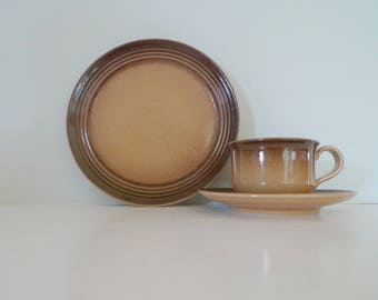 Vintage Höganas Swedish Vintage trio -  Cup plate and saucer Scandinavian Green Retro Hoganas