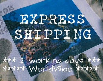 Express shipping // 2-4 working days // WorldWide