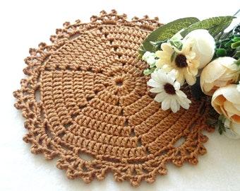 Crochet Placemat Crochet Doilie Crochet Doily Round Placemat Home Decor Tablecloth Crochet Tablecloth Women Gift