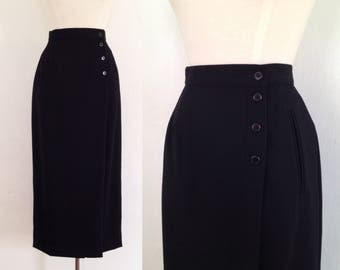 Black maxi skirt   Etsy