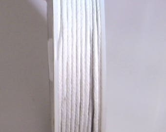 1 METER OF COTTON WAXED 1 MM WHITE