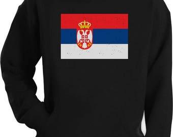 Serbia Flag Vintage Style Retro Serbian Hoodie