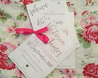 Grey + Silver glitter Wedding Invitations Printable Wedding Suite Digital