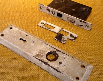 Mortise Door Lock, Face Plate and Striker Plate - AHC RHC