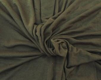 Olive Modal Spandex 1x1 Rib Fabric by Yard 4 Way Stretch 6/17