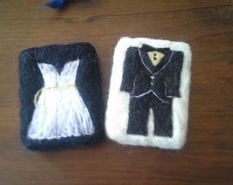 Wedding Party Felted Soap