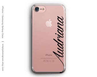 iPhone 8 Case, iPhone 8 Plus Case, iPhone X Case, iPhone 7 Case, iPhone 6 Case, Monogram, Samsung Galaxy Case, Personalized, Galaxy S8 Case