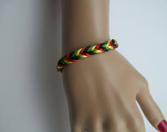 Reggae, One Love, Ragga Muffin, Bracelet Armlet Wristband Friendship Band Bob Marley Rasta  Men Women Boyfriend Girlfriend matching Set Gift