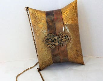 Art Deco Metal Pillow Purse