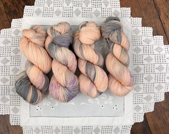 100g Best Silk Lingerie on ethically produced British Falkland merino fingering, worsted spun in the UK. 100% nonsuperwash merino 400 metres