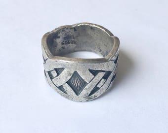 heavy celtic band, artisan-made, size 8.5