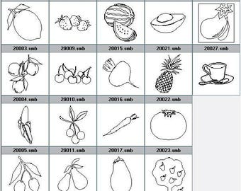 Your drawing food fruit vegetable coffee engraving to choose from pictured