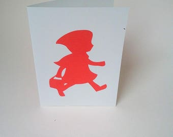 """The card """"The little Red Riding Hood"""" with its envelope"""