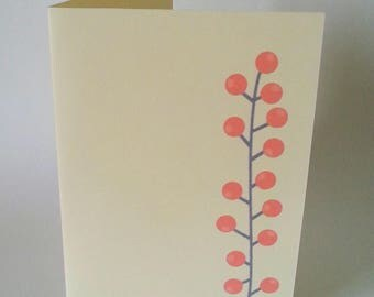 """The card """"The little bit of Holly"""" with its envelope"""