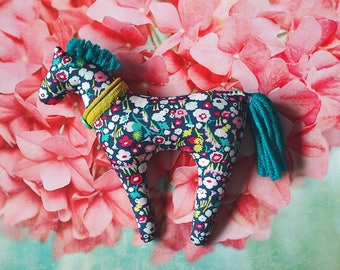 Plush Horse Toy Baby Girl Toddler Gift Baby Stuffed Animal Floral Nursery Decor New Mom Gift Natural Baby Toy Horse Princess Nursery Softies