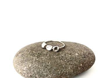 Three Stone Spin Ring