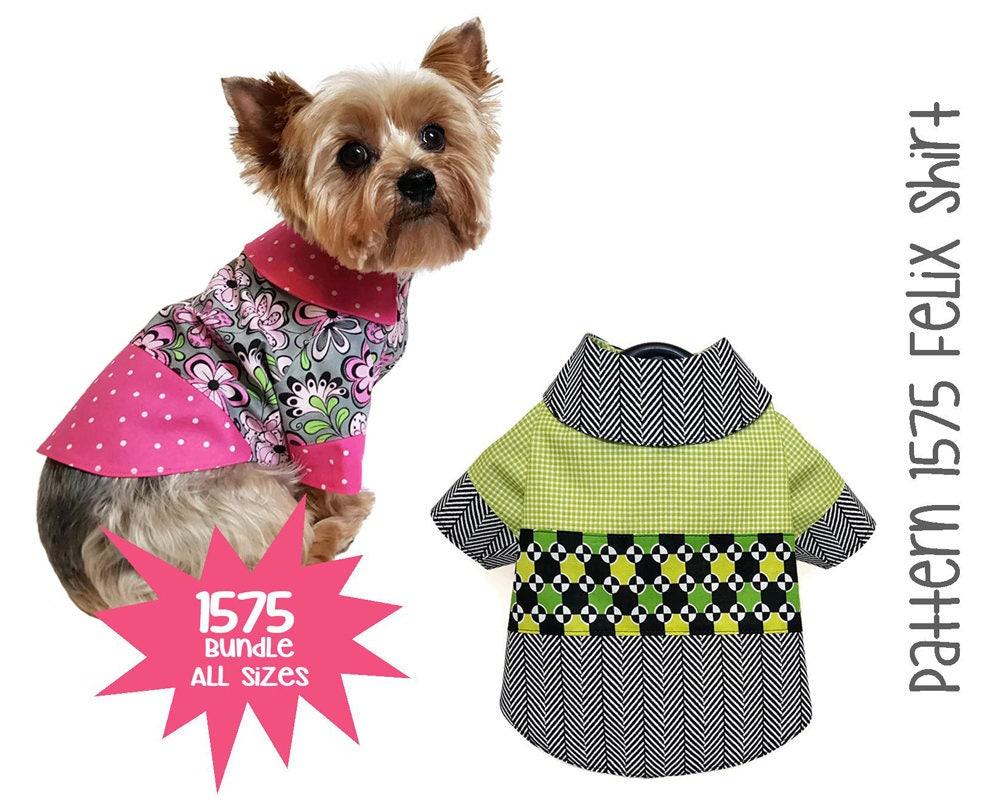 Felix dog shirt pattern 1575 bundle all sizes dog clothes zoom jeuxipadfo Image collections