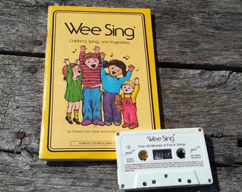 Vintage Wee Sing Children's Songs and Fingerplays with Cassette Tape 60 Minutes of Fun and Songs 1988