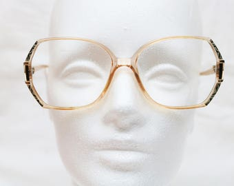 "Rare 80's Vintage ""RODENSTOCK"" Clear Detailed Eyeglass Frames"