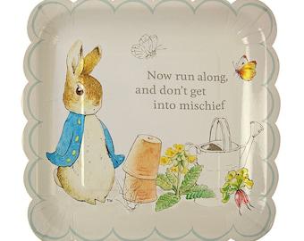 Meri Meri Beatrix Potter Peter Rabbit Large scallop Edge Plates set of 12