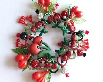 Cherry bracelet/Beadiebracelet