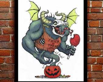 "Trick or Treat Print - 11""x8.5"""