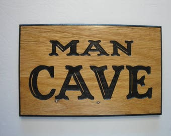 Man Cave Wood Sign
