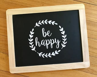 Be Happy, Laptop Decal, Laptop Sticker, Macbook Decal, Macbook Sticker, Laptop Quote, Quote Decal, Quote Sticker, Vinyl Decal, Vinyl Sticker