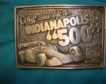 Coca Cola Indianapolis 500 Racing Car Belt Buckle