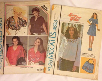 McCalls Women's Patterns 4663 and 5903