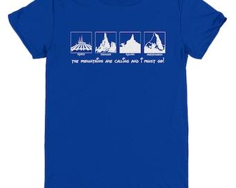 Disney Mountains Calling Shirts Gift Disneyland Shirt Child Youth