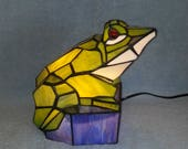 Accent Lamp - Stained Glass Frog - Nightlight - Large