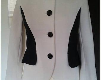 ON SALE Jersey RACINE Paris vintage couture jacket S
