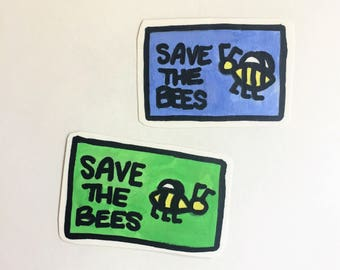 save the bees environmental justice activism anti-global warming sticker