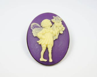 Brooch Fairy purple