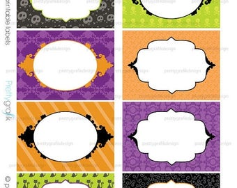 80% OFF SALE Halloween labels printable, cards, stickers, gift tags, tags, mailing labels - PT100