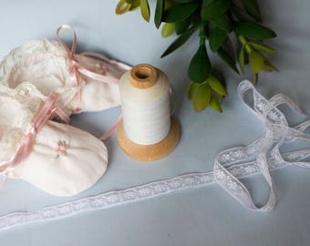 """French Valenciennes Lace- 7/16"""" insertion"""