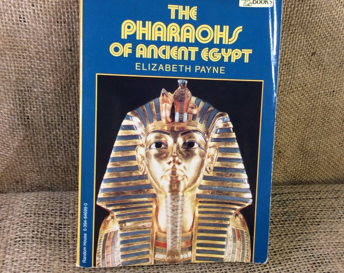 The Pharaohs of Ancient Egypt by Elizabeth Payne, vintage book, Ancient Egypt book, book worm gift, book gifts