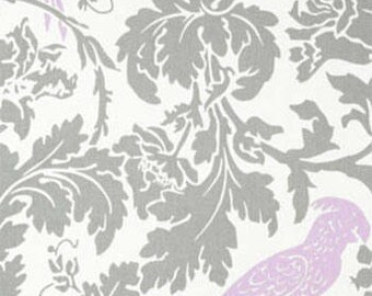 One Yard Barber in Lavender/Gray 100% Cotton Fabric