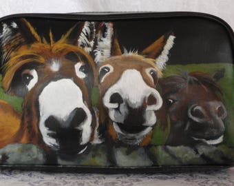Mens Dopp Kit Hand Painted with 'The Three Amigos'