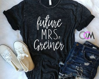 Future Mrs Shirt, Future Mrs Raglan, Bride Shirt, Wedding Shirt, engagement Shirt, Bridal Shower Gift, Bachelorette Shirts, Bride Tank