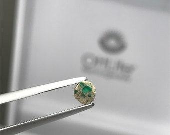 Trapiche Emerald slice Muzo Mine Colombia E0199