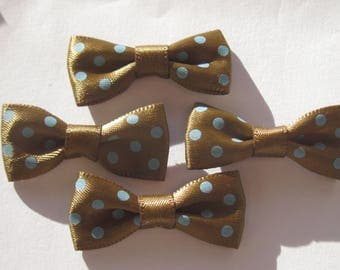 Satin fabric in pea 34 mm approx - (A201 4 bows