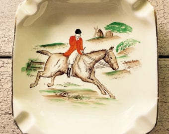 Vintage Equestrian Ashtray ... Free Shipping