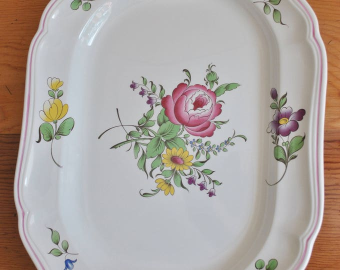 Spode England Marlborough Sprays Serving Platter 14""