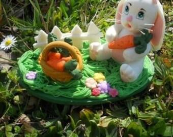 Cold porcelain Easter Bunny