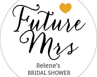 30 x Bridal Shower, Personalised bridal shower Stickers, Wedding Favour Labels, Names and Date, Bride and Groom Stickers, Kitchen Tea